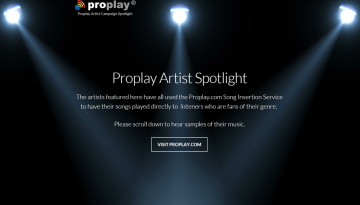 Proplay Promotion Homepage Screenshot1